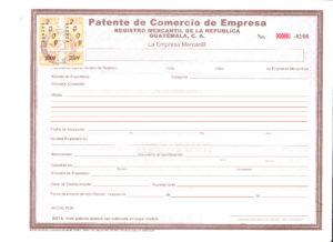 patente de comercio empresa guatemala - gestiones joel